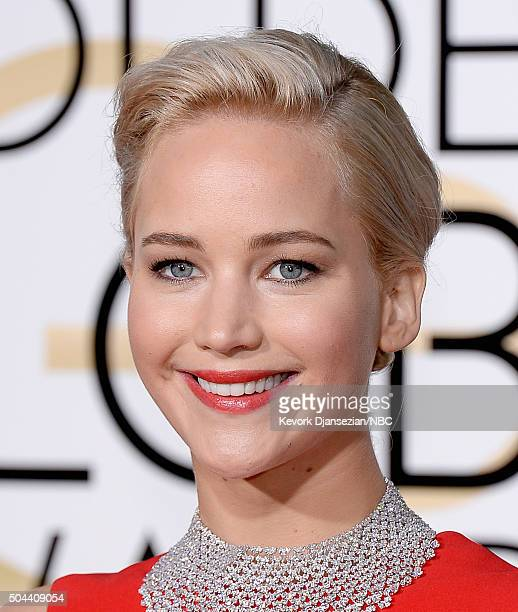 73rd ANNUAL GOLDEN GLOBE AWARDS Pictured Actress Jennifer Lawrence arrives to the 73rd Annual Golden Globe Awards held at the Beverly Hilton Hotel on...
