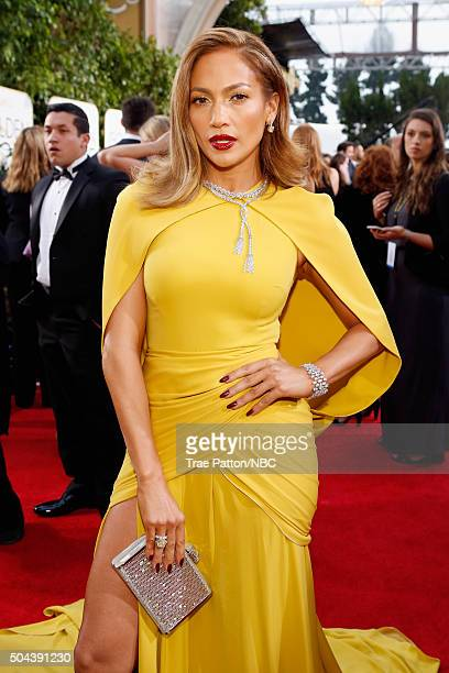 73rd ANNUAL GOLDEN GLOBE AWARDS -- Pictured: Actress Jennifer Lopez arrives to the 73rd Annual Golden Globe Awards held at the Beverly Hilton Hotel...