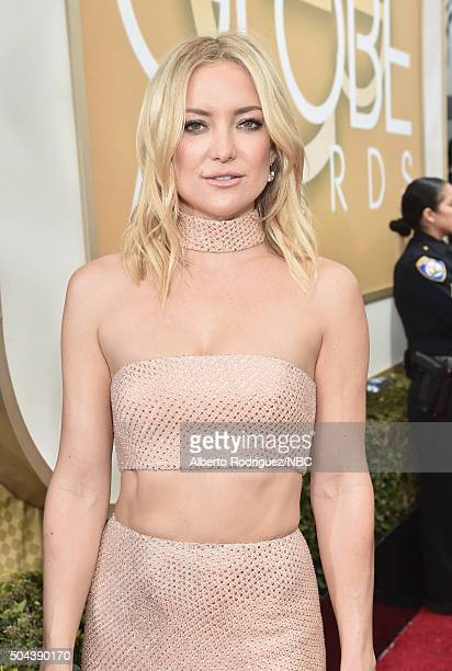 73rd ANNUAL GOLDEN GLOBE AWARDS Pictured Actress Kate Hudson arrives to the 73rd Annual Golden Globe Awards held at the Beverly Hilton Hotel on...
