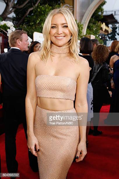 73rd ANNUAL GOLDEN GLOBE AWARDS -- Pictured: Actress Kate Hudson arrives to the 73rd Annual Golden Globe Awards held at the Beverly Hilton Hotel on...