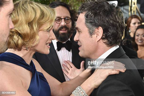 73rd ANNUAL GOLDEN GLOBE AWARDS Pictured Actress Kate Winslet and actor Mark Ruffalo arrive to the 73rd Annual Golden Globe Awards held at the...