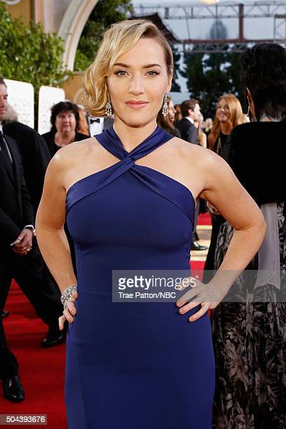73rd ANNUAL GOLDEN GLOBE AWARDS Pictured Actress Kate Winslet arrives to the 73rd Annual Golden Globe Awards held at the Beverly Hilton Hotel on...