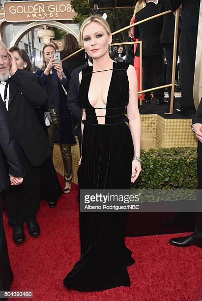 73rd ANNUAL GOLDEN GLOBE AWARDS -- Pictured: Actress Kirsten Dunst arrives to the 73rd Annual Golden Globe Awards held at the Beverly Hilton Hotel on...