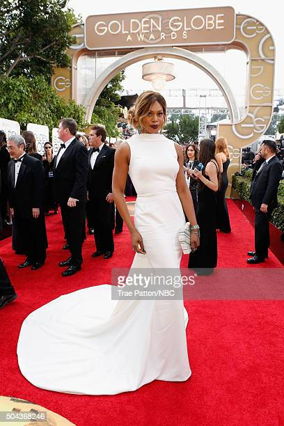 73rd ANNUAL GOLDEN GLOBE AWARDS Pictured Actress Laverne Cox arrives to the 73rd Annual Golden Globe Awards held at the Beverly Hilton Hotel on...