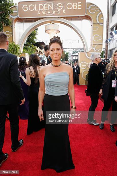 73rd ANNUAL GOLDEN GLOBE AWARDS Pictured Actress Maura Tierney arrives to the 73rd Annual Golden Globe Awards held at the Beverly Hilton Hotel on...