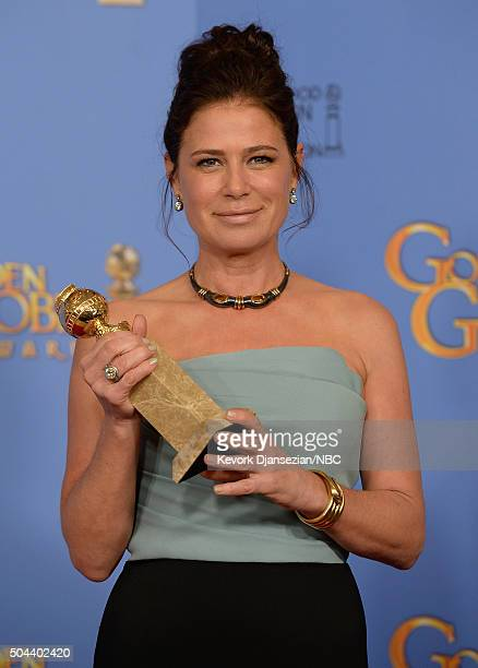 73rd ANNUAL GOLDEN GLOBE AWARDS -- Pictured: Actress Maura Tierney, winner of the award for Best Performance by an Actress in a Supporting Role in a...