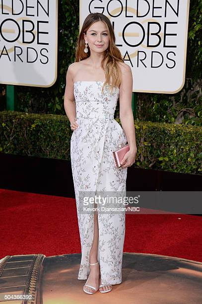 73rd ANNUAL GOLDEN GLOBE AWARDS Pictured Actress Melissa Benoist arrives to the 73rd Annual Golden Globe Awards held at the Beverly Hilton Hotel on...