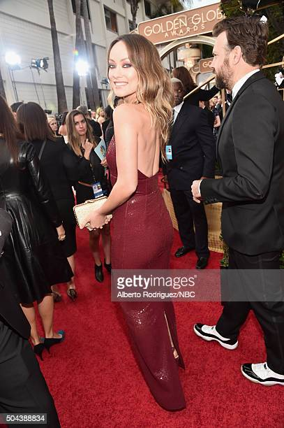 73rd ANNUAL GOLDEN GLOBE AWARDS Pictured Actress Olivia Wilde arrives to the 73rd Annual Golden Globe Awards held at the Beverly Hilton Hotel on...