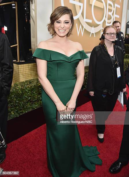 73rd ANNUAL GOLDEN GLOBE AWARDS Pictured Actress Rachel Bloom arrives to the 73rd Annual Golden Globe Awards held at the Beverly Hilton Hotel on...