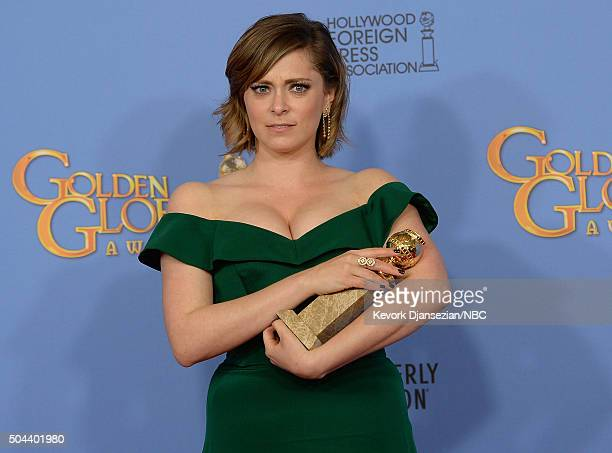 73rd ANNUAL GOLDEN GLOBE AWARDS -- Pictured: Actress Rachel Bloom, winner of the award for Best Performance by an Actress in a Television Series -...