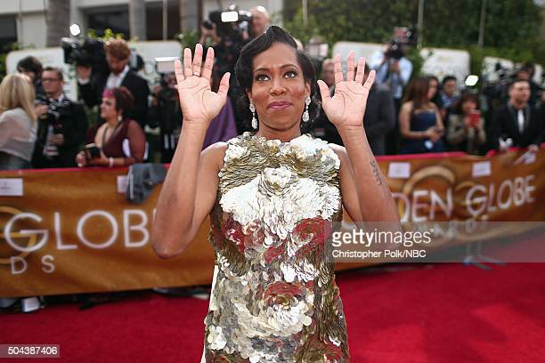 73rd ANNUAL GOLDEN GLOBE AWARDS -- Pictured: Actress Regina King arrives to the 73rd Annual Golden Globe Awards held at the Beverly Hilton Hotel on...