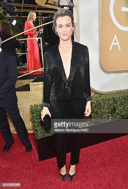 73rd ANNUAL GOLDEN GLOBE AWARDS Pictured Actress Taylor Schilling arrives to the 73rd Annual Golden Globe Awards held at the Beverly Hilton Hotel on...