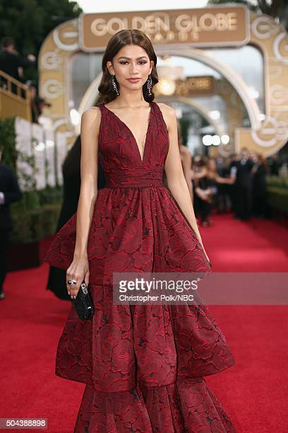 73rd ANNUAL GOLDEN GLOBE AWARDS Pictured Actress Zendaya arrives to the 73rd Annual Golden Globe Awards held at the Beverly Hilton Hotel on January...