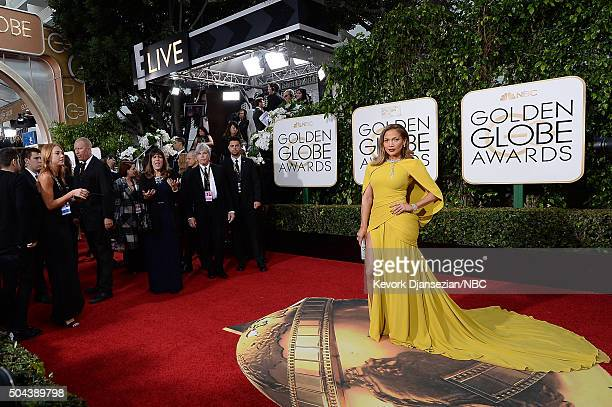 73rd ANNUAL GOLDEN GLOBE AWARDS Pictured Actress/singer Jennifer Lopez arrives to the 73rd Annual Golden Globe Awards held at the Beverly Hilton...