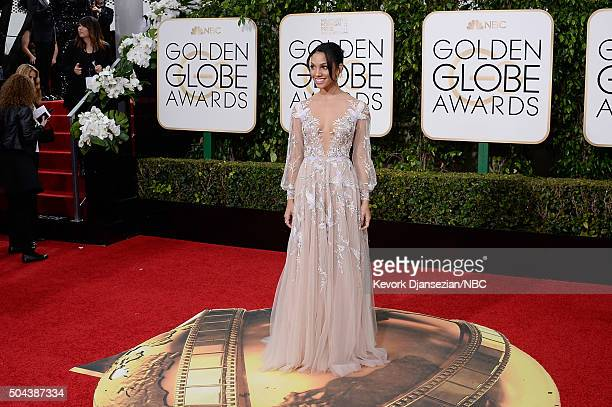 73rd ANNUAL GOLDEN GLOBE AWARDS Pictured Corinne Foxx arrives to the 73rd Annual Golden Globe Awards held at the Beverly Hilton Hotel on January 10...