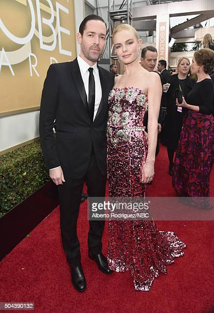73rd ANNUAL GOLDEN GLOBE AWARDS Pictured Director Michael Polish and actress Kate Bosworth arrive to the 73rd Annual Golden Globe Awards held at the...