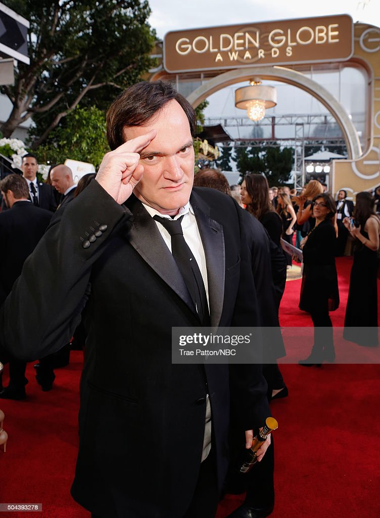 73rd ANNUAL GOLDEN GLOBE AWARDS -- Pictured: Director Quentin Tarantino arrives to the 73rd Annual Golden Globe Awards held at the Beverly Hilton Hotel on January 10, 2016.