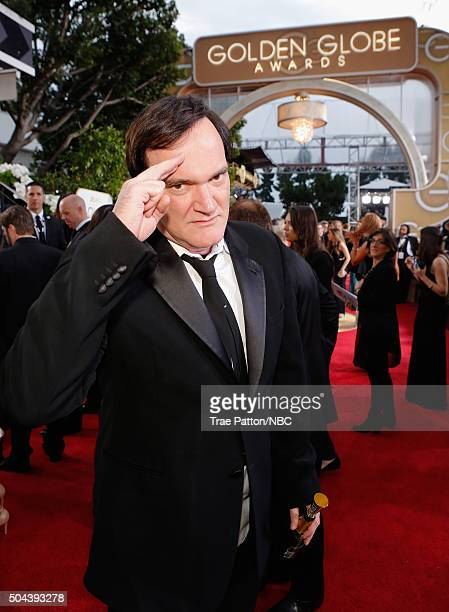 73rd ANNUAL GOLDEN GLOBE AWARDS Pictured Director Quentin Tarantino arrives to the 73rd Annual Golden Globe Awards held at the Beverly Hilton Hotel...
