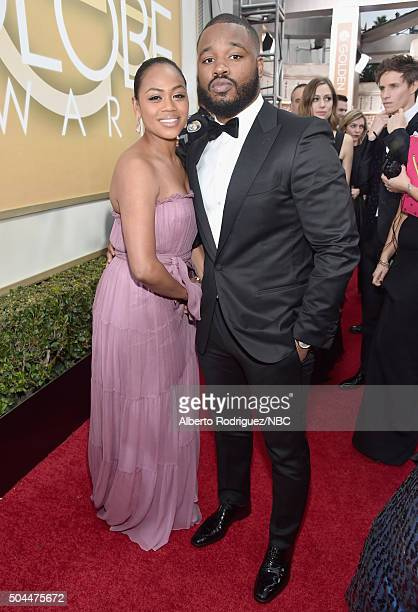 73rd ANNUAL GOLDEN GLOBE AWARDS Pictured Director Ryan Coogler and guest arrive to the 73rd Annual Golden Globe Awards held at the Beverly Hilton...