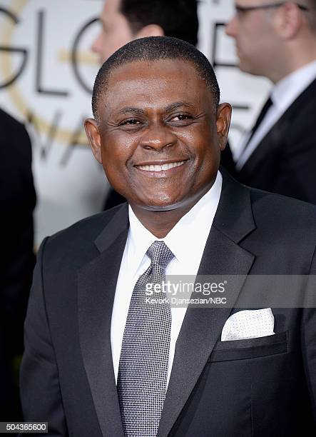 73rd ANNUAL GOLDEN GLOBE AWARDS Pictured Dr Bennet Omalu arrives to the 73rd Annual Golden Globe Awards held at the Beverly Hilton Hotel on January...