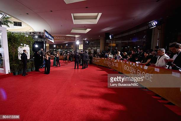 73rd ANNUAL GOLDEN GLOBE AWARDS Pictured General view of the red carpet during the 73rd Annual Golden Globe Awards held at the Beverly Hilton Hotel...