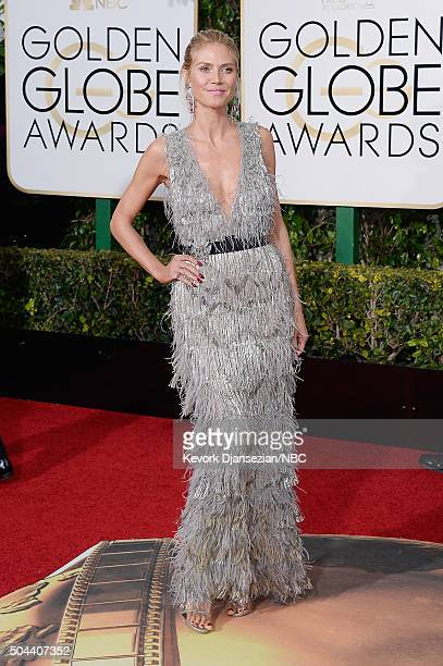73rd ANNUAL GOLDEN GLOBE AWARDS Pictured Heidi Klum arrives to the 73rd Annual Golden Globe Awards held at the Beverly Hilton Hotel on January 10 2016