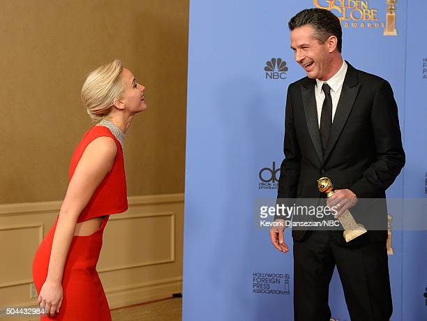 73rd ANNUAL GOLDEN GLOBE AWARDS Pictured Producer Simon Kinberg winner of the award for Best Motion Picture Musical or Comedy for 'The Martian' poses...