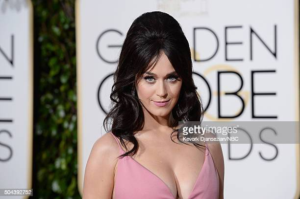 73rd ANNUAL GOLDEN GLOBE AWARDS Pictured Recording artist Katy Perry arrives to the 73rd Annual Golden Globe Awards held at the Beverly Hilton Hotel...