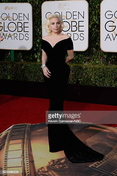 73rd ANNUAL GOLDEN GLOBE AWARDS Pictured Singer/actress Lady Gaga arrives to the 73rd Annual Golden Globe Awards held at the Beverly Hilton Hotel on...