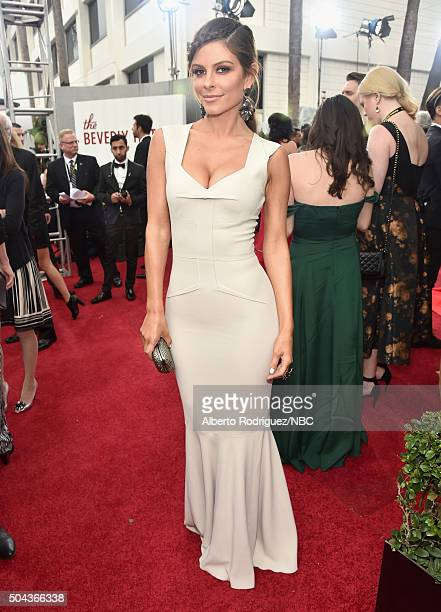 73rd ANNUAL GOLDEN GLOBE AWARDS Pictured TV personality Maria Menounos arrives to the 73rd Annual Golden Globe Awards held at the Beverly Hilton...