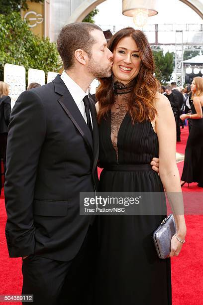 73rd ANNUAL GOLDEN GLOBE AWARDS Pictured Writer/producer D B Weiss and writer Andrea Troyer arrive to the 73rd Annual Golden Globe Awards held at the...