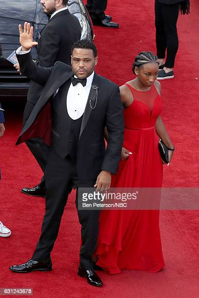 74th ANNUAL GOLDEN GLOBE AWARDS Pictured Actor Anthony Anderson and his daughter Kyra Anderson arrive to the 74th Annual Golden Globe Awards held at...