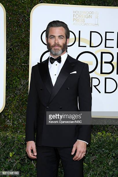 74th ANNUAL GOLDEN GLOBE AWARDS Pictured Actor Chris Pine arrives to the 74th Annual Golden Globe Awards held at the Beverly Hilton Hotel on January...