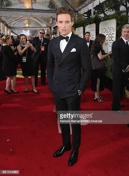 74th ANNUAL GOLDEN GLOBE AWARDS Pictured Actor Eddie Redmayne arrives to the 74th Annual Golden Globe Awards held at the Beverly Hilton Hotel on...