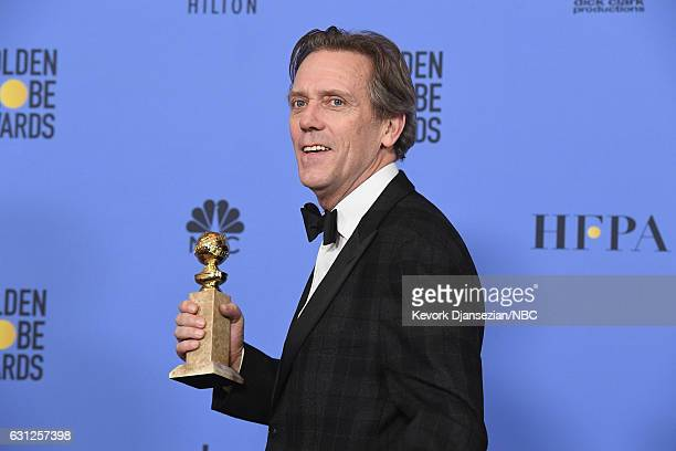 74th ANNUAL GOLDEN GLOBE AWARDS Pictured Actor Hugh Laurie winner of Best Supporting Actor in a Series Miniseries or Television Film for 'Night...