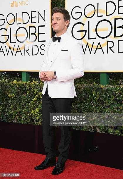 74th ANNUAL GOLDEN GLOBE AWARDS Pictured Actor Jeremy Renner arrives to the 74th Annual Golden Globe Awards held at the Beverly Hilton Hotel on...