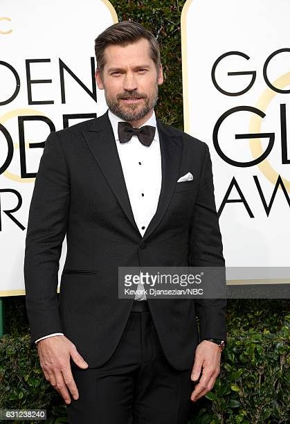 74th ANNUAL GOLDEN GLOBE AWARDS Pictured Actor Nikolaj CosterWaldau arrives to the 74th Annual Golden Globe Awards held at the Beverly Hilton Hotel...