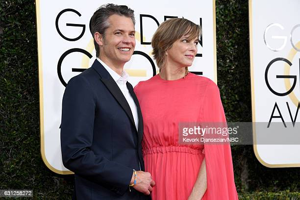 74th ANNUAL GOLDEN GLOBE AWARDS Pictured Actor Timothy Olyphant and Alexis Knief arrive to the 74th Annual Golden Globe Awards held at the Beverly...