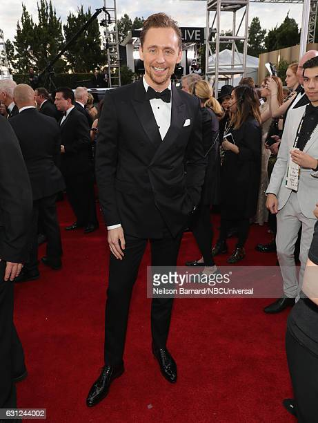 74th ANNUAL GOLDEN GLOBE AWARDS Pictured Actor Tom Hiddleston arrives to the 74th Annual Golden Globe Awards held at the Beverly Hilton Hotel on...