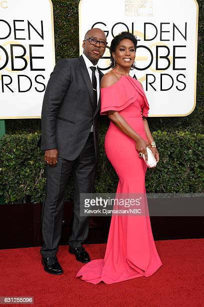 74th ANNUAL GOLDEN GLOBE AWARDS Pictured Actors Courtney B Vance and Angela Bassett arrive to the 74th Annual Golden Globe Awards held at the Beverly...