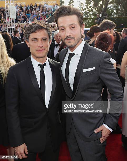 74th ANNUAL GOLDEN GLOBE AWARDS Pictured Actors Gael García Bernal and Diego Luna arrive to the 74th Annual Golden Globe Awards held at the Beverly...