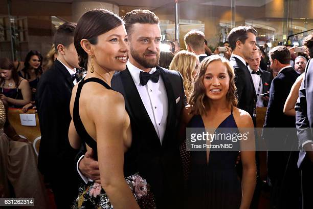 74th ANNUAL GOLDEN GLOBE AWARDS Pictured Actors Jessica Biel and Justin Timberlake arrive to the 74th Annual Golden Globe Awards held at the Beverly...