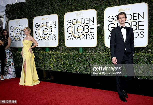 74th ANNUAL GOLDEN GLOBE AWARDS Pictured Actors Reese Witherspoon and Andrew Garfield arrive to the 74th Annual Golden Globe Awards held at the...