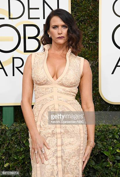 74th ANNUAL GOLDEN GLOBE AWARDS Pictured Actress Amy Landecker arrives to the 74th Annual Golden Globe Awards held at the Beverly Hilton Hotel on...