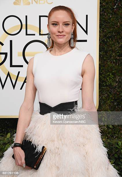 74th ANNUAL GOLDEN GLOBE AWARDS Pictured Actress Barbara Meier arrives to the 74th Annual Golden Globe Awards held at the Beverly Hilton Hotel on...