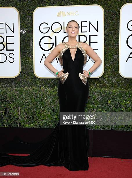 74th ANNUAL GOLDEN GLOBE AWARDS Pictured Actress Blake Lively arrives to the 74th Annual Golden Globe Awards held at the Beverly Hilton Hotel on...