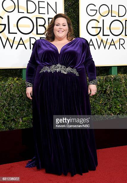 74th ANNUAL GOLDEN GLOBE AWARDS Pictured Actress Chrissy Metz arrive to the 74th Annual Golden Globe Awards held at the Beverly Hilton Hotel on...