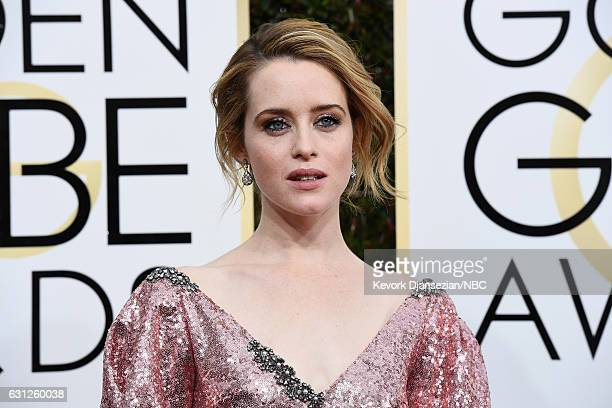 74th ANNUAL GOLDEN GLOBE AWARDS Pictured Actress Claire Foy arrives to the 74th Annual Golden Globe Awards held at the Beverly Hilton Hotel on...