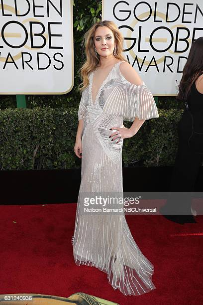 74th ANNUAL GOLDEN GLOBE AWARDS Pictured Actress Drew Barrymore arrives to the 74th Annual Golden Globe Awards held at the Beverly Hilton Hotel on...