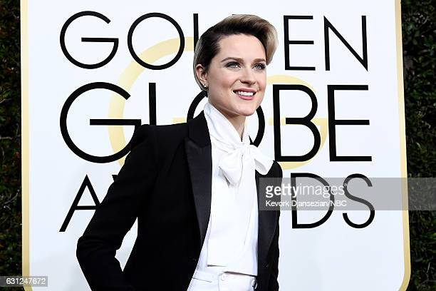 74th ANNUAL GOLDEN GLOBE AWARDS Pictured Actress Evan Rachel Wood arrives to the 74th Annual Golden Globe Awards held at the Beverly Hilton Hotel on...